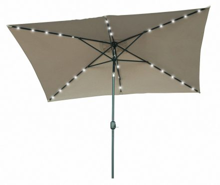 Trademark Innovations Solar Powered LED Patio Umbrella